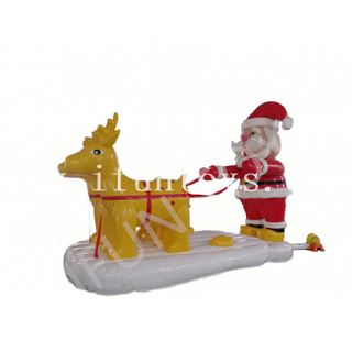 Outdoor Christmas Decoration Inflatable Santa with Reindeers