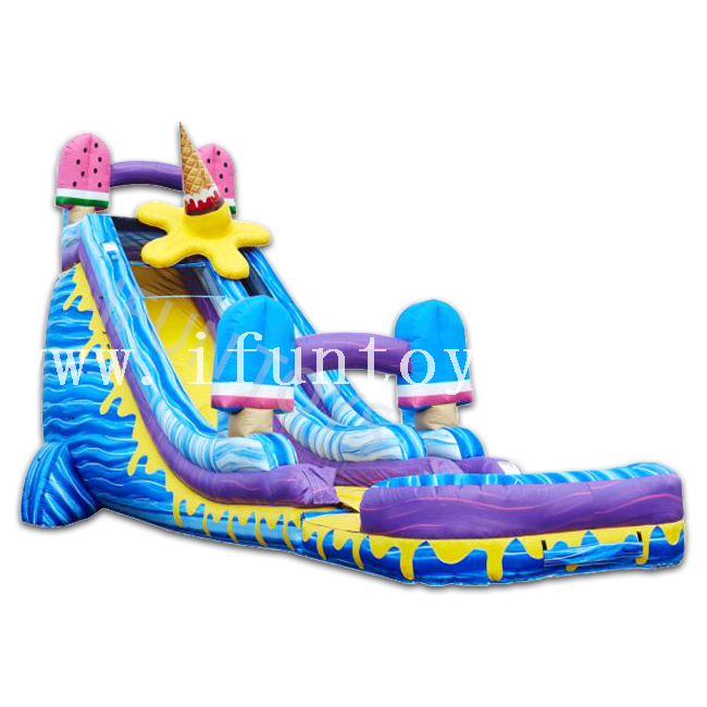 Popsicle Slip and Slide Inflatable Ice Cream Water Slide with Pool for Sale