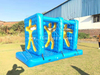 Inflatable Human Body Through Wall Game / Team Building Running Challenge for Outdoor Sport Game