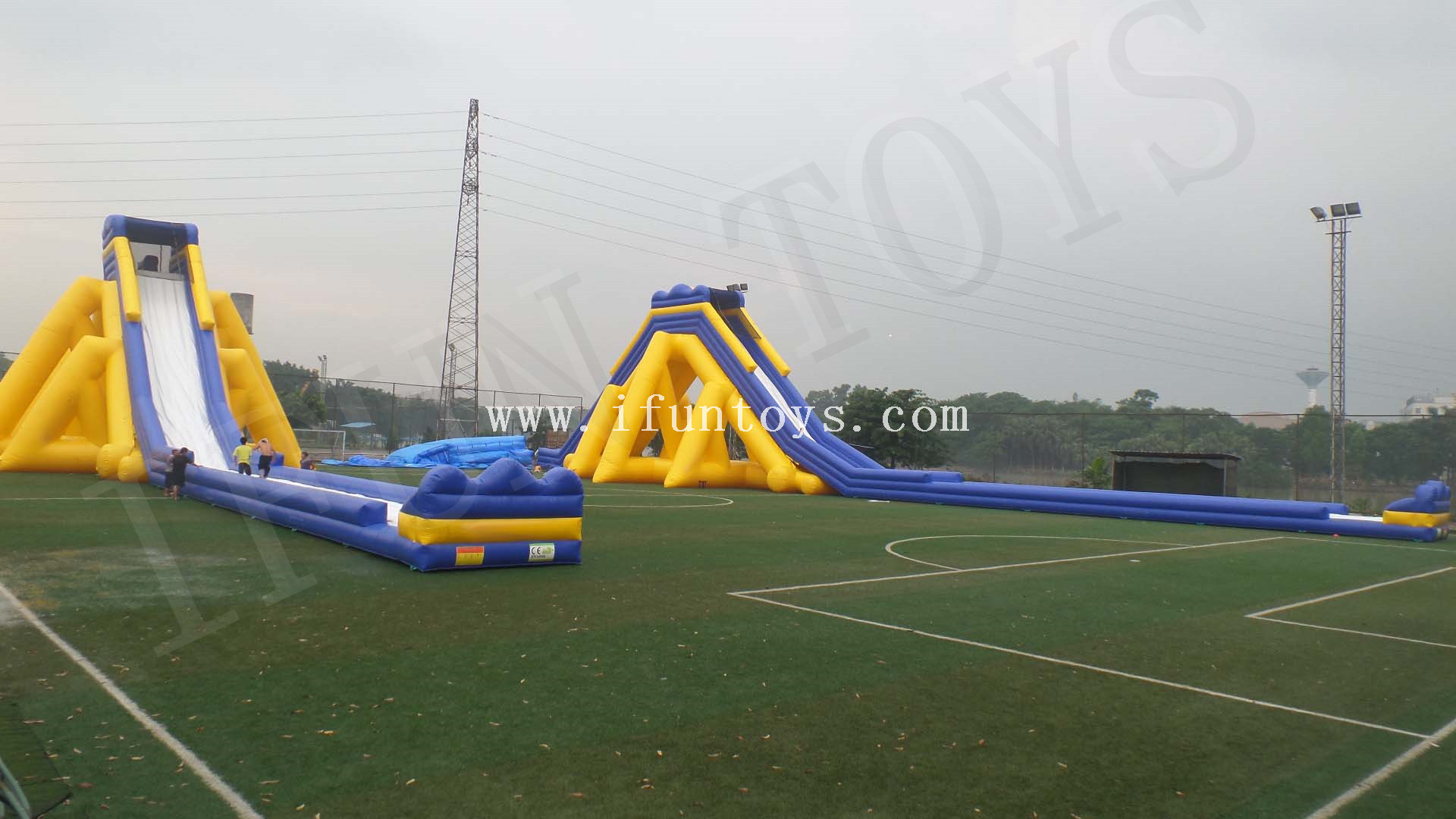Giant Inflatable Hippo Water Slide / Inflatable Jumbo Hippo Slide / Beach Slide for Kids And Adults