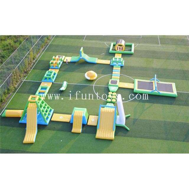 Giant inflatable rapids waterpark aqua floating island amusement park playground for family