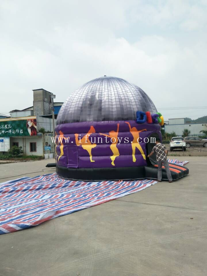 Commercial inflatable disco dome tent/ dancing inflatable bounce house /inflatable Disco Bouncy Jumper Castle for sale