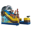 Inflatable Pirate Ship Slide / Pirate Theme Inflatable Dry Slide / Inflatable Pirate Boat Slide Combo for Kids