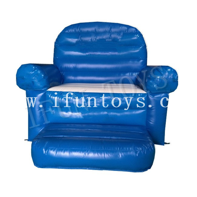 Durable PVC Tarpaulin Inflatable King Throne / Inflatable Sofa Chair / Inflatable Furniture Sofa Set