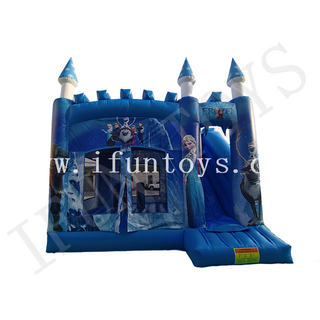 Outdoor Inflatable Frozen Bouncer Combo / Jumping Castle with Slide for Kids