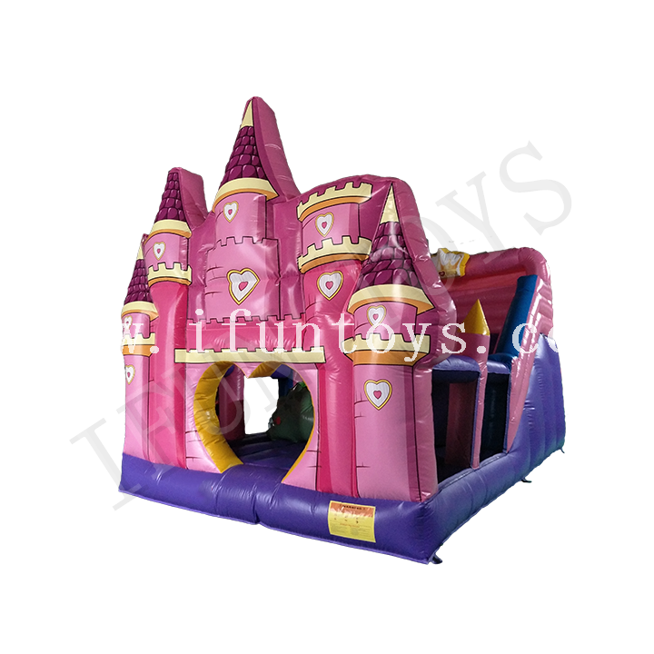 Inflatable Bouncy Castle Slide / Dry Slide with Blower for Kids