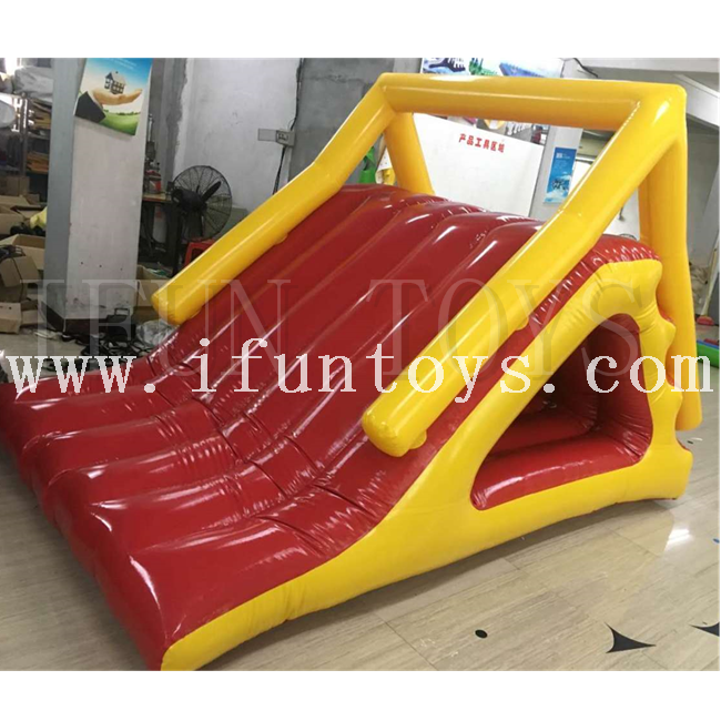Inflatable water toys /inflatable summit express slide/ inflatable water floating climbing slide for aqua park games