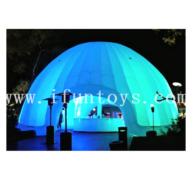 Inflatable Dome Buildings with LED Lighting / Inflatable Igloo Dome Tent for Party