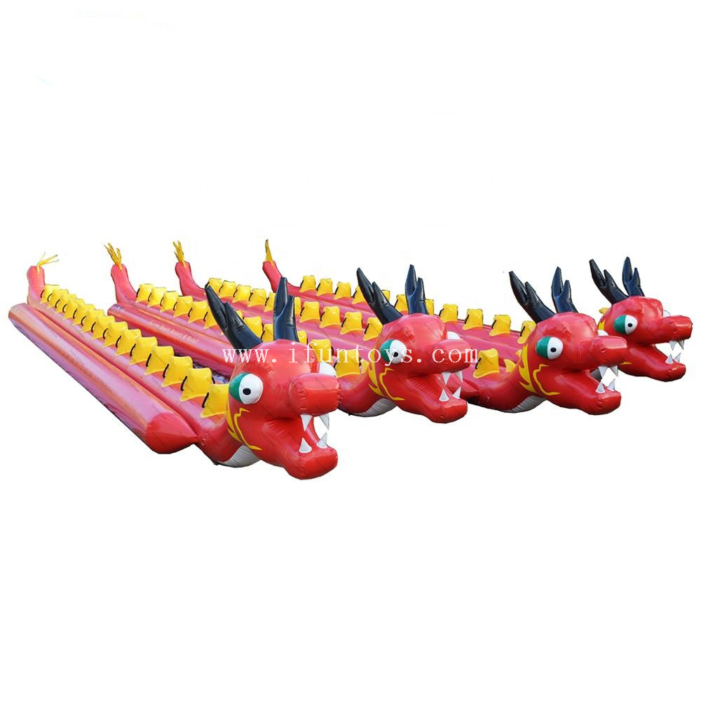 Crazy Water Towable Games Inflatable Dragon Banana Boat for Water park