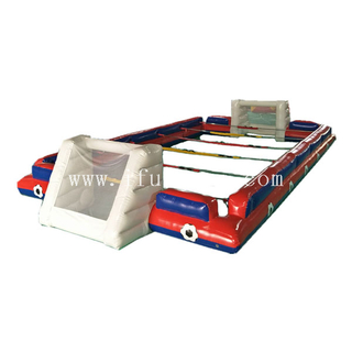 40ft inflatable babyfoot foosball court/Inflatable Human Foosball Table football games wholesale