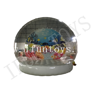 Sea World Inflatable Snow Globe / Inflatable Snow Globe Photo Booth for Christmas Decoration