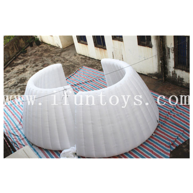 LED Inflatable Photo Backdrop Wall / Inflatable Office Pod / Inflatable Temporary Event Wall