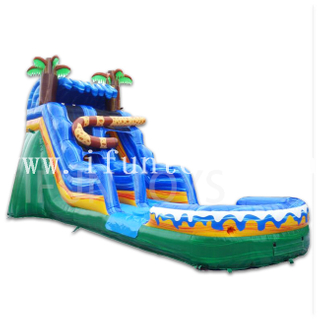 Inflatable Jaguar Water Slide / Wet Slide with Pool for Kids