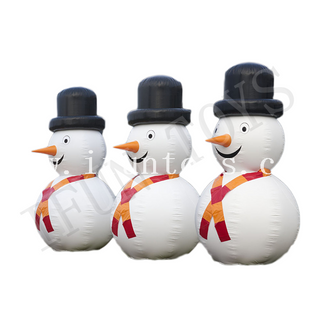 Giant Inflatable Snowman with Hat / Inflatable Christmas Snowman for Outdoor Decoration