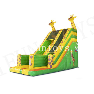 Inflatable Giraffe Slide / Outdoor Bouncy Slide / Dry Slide with Air Blower for Kids