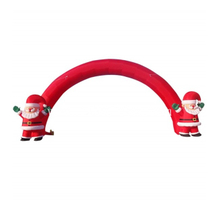 Outdoor Christmas Decoration Inflatable Santa Arch with Air Blower for Sale