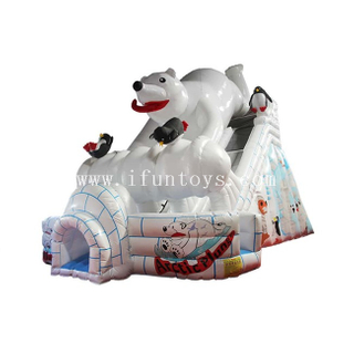 Inflatable Polar Bear Slide /Snow Theme Inflatable Slides /Giant Inflatable Water Slide for Kids