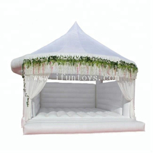 White Inflatable Wedding Bouncy Castle /Romantic Inflatable Jumping Bouncy for Wedding