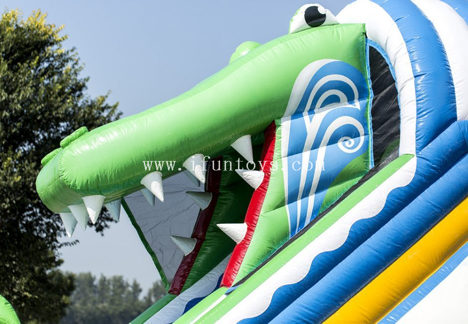 New Style Inflatable Crocodile Belly Slide /inflatable bouncer combo slide /inflatable water slide for kids