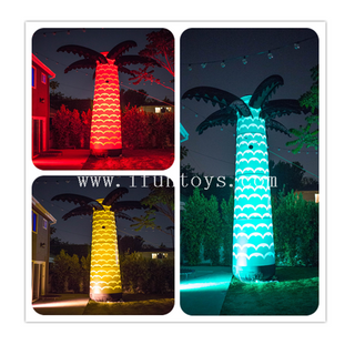 6m Tall Inflatable Palm Tree / Coconut Tree with LED Light for Outdoor Party Decoration