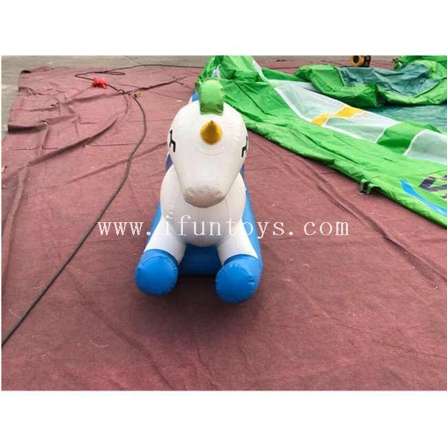 Lovely Inflatable Unicorn Ride /Inflatable Rocking Unicorn Teeterboard/water Games Inflatable Unicorn Seesaw for Kids