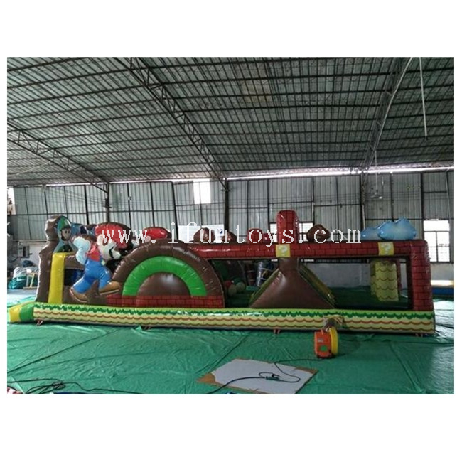Super Mario Inflatable Obstacle Course / Inflatable Running Obstacle / Inflatable Obstacle Challenge Game