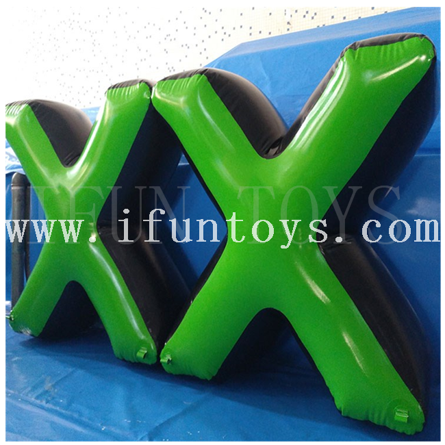 Cheap inflatable paintball air bunkers/ Archery inflatable x bunker x x/inflatable paintball air field for sport team building game