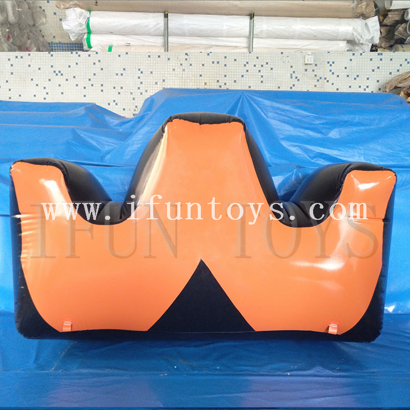 W shape inflatable paintball bunker archery/inflatable paintball obstacle /inflatable paintball arena for CS game