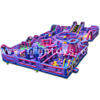 Giant Inflatable Theme Park / Amusement Park Trampoline Playground Funcity for Adults And Kids
