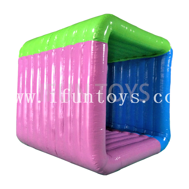 Interactive Team Game Inflatable Flip It / Giant Inflatable Square Rolling Game for Team Building And Corporate Games