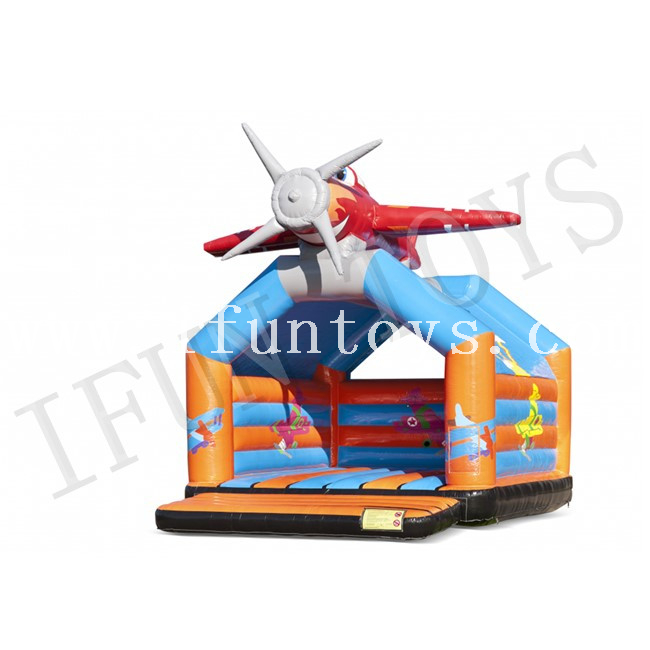 Inflatable Airplane Jumping Bouncer / Inflatable Trampoline Jumping Castle / Playground for Kids