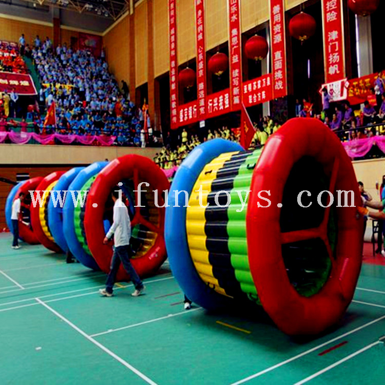 Group Work Training Team Spirits Inflatable Dynamic Five Rings/ inflatable fun roller For Kids And Adults sport game