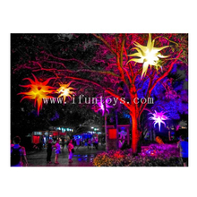 Hanging Inflatable Hydra Lilia / LED Lighted Inflatable Air Star Balloon / Inflatable Star Flower for Party