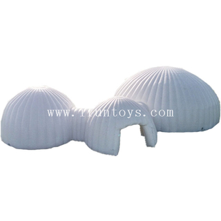 New portable 3 in 1 inflatable white wedding event ilgoo dome tent outdoor