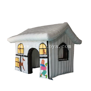 Christmas inflatable Santa house tent/inflatable Santa grotto/Inflatable Christmas house for decoration