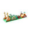 Giraffe theme animal inflatable bouncy house obstacle course /inflatable running race obstacle course for kids