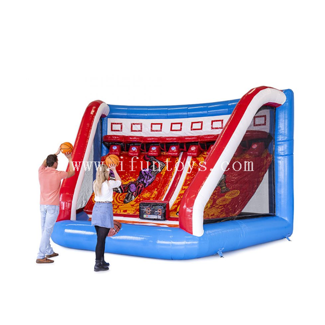 New design inflatable IPS basketball shooting game /inflatable basketball target with interactive play system IPS machine