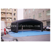 Black Portable Inflatable Yoga Tent / Giant Inflatable Cube Tent / Outdoor Giant Inflatable dome building for Yoga sports