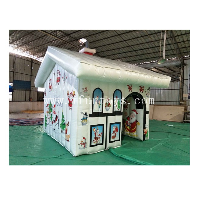 Outdoor Inflatable Christmas House / Inflatable Snowman House / Inflatable Santa Grotto Tent for Christmas Decoration