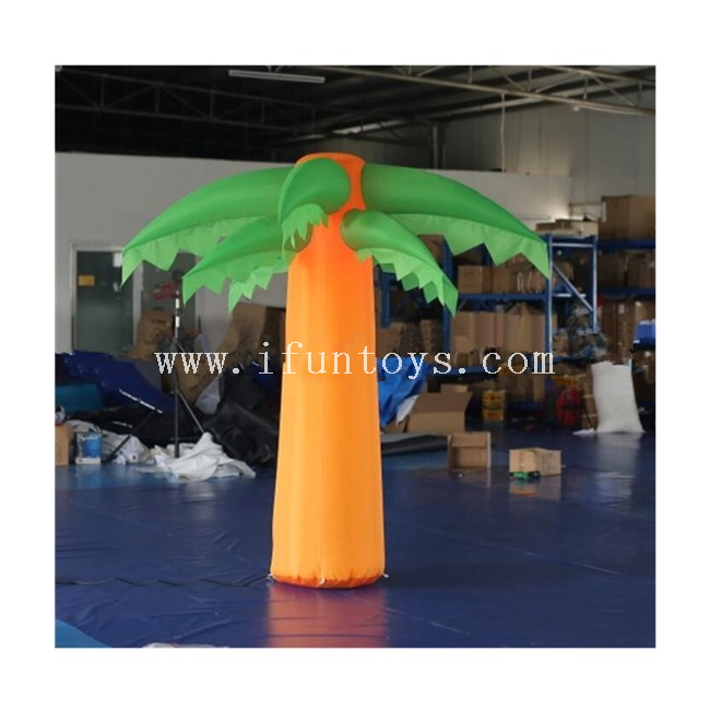 2m tall Inflatable Palm Tree with LED Lighting / Inflatable Tropical Tree / Coconut Tree for Christmas Decoration