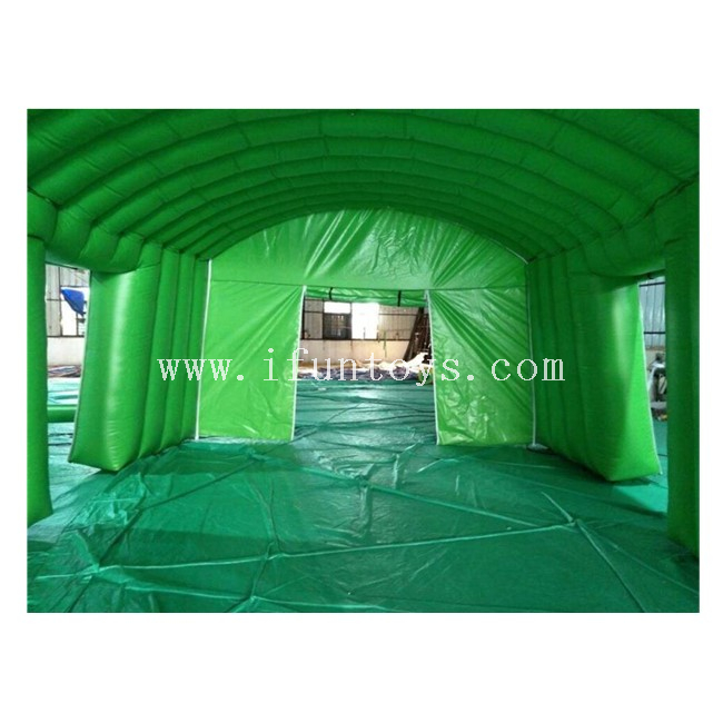 Green Inflatable Stage Cover for Concert / Inflatable Stage Roof / Inflatable Arch Tent for Exhibition