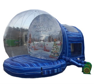 Giant inflatable snow globe photobooth for Christmas&Halloween Decoration/inflatable snow globe tent/empty snow globe