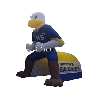 Customized eagle inflatable mascot tunnel/ inflatable football entrance tunnel for event&sport game