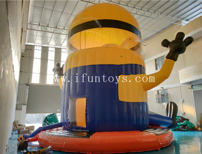 Inflatable Minions Parachute / Inflatable Airborne Adventure Free Fall Sport Game for 4 Persons
