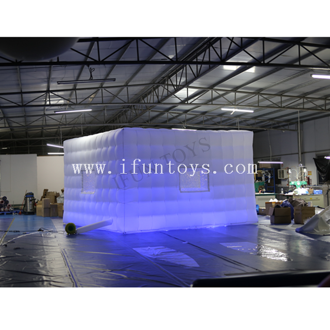 LED Lighting Inflatable Cube Tent for Wedding / Outdoor Inflatable Party Tent / Blow Up Inflatable LED Tent for Sale